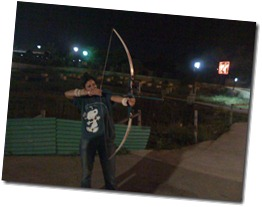 Archery at Savin Kingdom, an amusement park at Siliguri
